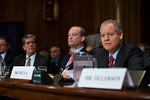 James Mulva (right), Chairman and Chief Executive Officer, ConocoPhillips gives testimony. The heads of five of the largest oil and gas companies in the world testified before the Senate Fin ...