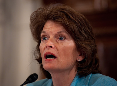 Sen. Lisa Murkowski (R-AK) hears testimony as oil executives appear before the U.S. Senate Committee on Energy and Natural Resources investigating the recent oil spill in the Gulf of Mexico . On Capitol Hill in Washington DC, Tuesday, May 11, 2010 (Photo by Jeff Malet)