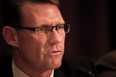 Keith Overton, Chairman of the Board, Florida Restaurant and Lodging Association and Senior Vice President and Chief Operating Officer, TradeWinds Island Resorts testifies before the U.S. Senate Committee on Environment and Public Works investigating the recent oil spill in the Gulf of Mexico on Capitol Hill in Washington DC, Tuesday, May 11, 2010 (Photo by Jeff Malet)