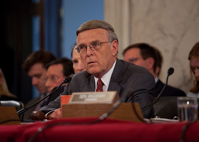 Byron L. Dorgan (D-ND) hears testimony as oil executives appear before the U.S. Senate Committee on Energy and Natural Resources investigating the recent oil spill in the Gulf of Mexico . On Capitol Hill in Washington DC, Tuesday, May 11, 2010 (Photo by Jeff Malet)