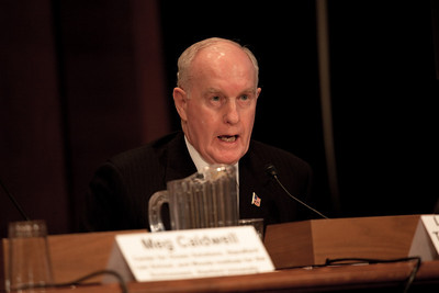 Lieutenant General Thomas G. McInerney, United States Air Force (Ret.) testifies before the U.S. Senate Committee on Environment and Public Works investigating the recent oil spill in the Gulf of Mexico on Capitol Hill in Washington DC, Tuesday, May 11, 2010 (Photo by Jeff Malet)