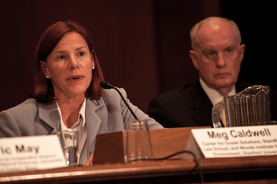 Meg Caldwell JD, Director, Environmental and Natural Resources Law & Policy Program; Executive Director, Center for Ocean Solutions, Woods Institute for the Environment, Stanford University testifies before the U.S. Senate Committee on Environment and Public Works investigating the recent oil spill in the Gulf of Mexico on Capitol Hill in Washington DC, Tuesday, May 11, 2010 (Photo by Jeff Malet)
