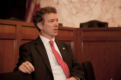 Senator Rand Paul (R-KY) attends the first meeting of the Senate Tea Party Caucus on Thursday January 27, 2011 on Capitol Hill in Washington DC. (Photo by Jeff Malet)