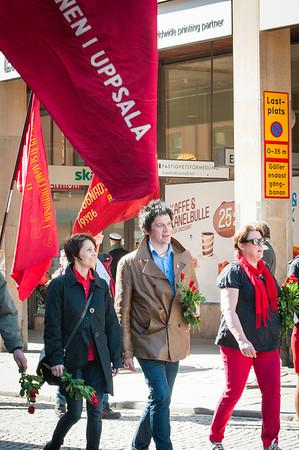 Socialdemokraterna på Första maj i Uppsala 2012