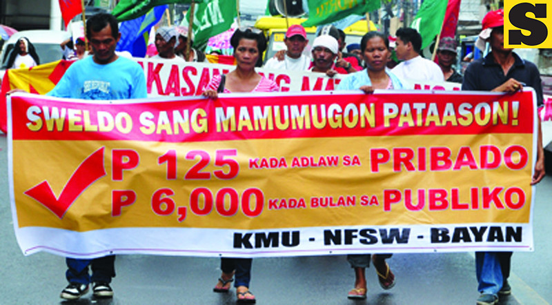 BACOLOD. Thousands of workers also marched in the streets and held a protest rally at the Bacolod City Public Plaza to push for improved working conditions on Labor Day. (Merlinda Pedrosa)