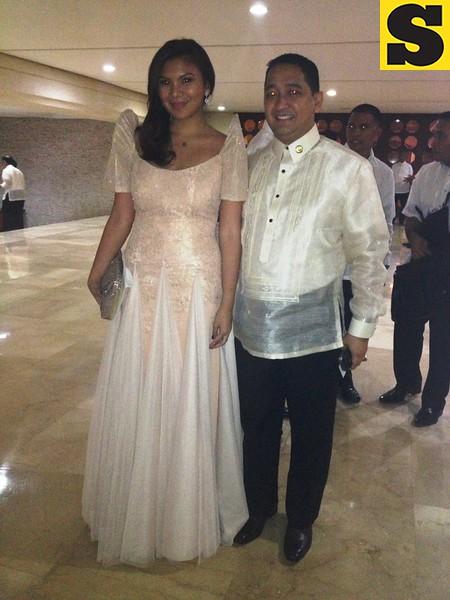 Maria Paz Ocampo and Representative Francis Asidilio