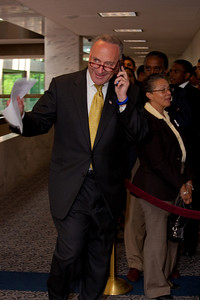 Sen. Chuck Schumer (NY) re-entering the hearings after lunch break