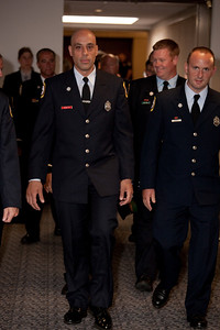 New Haven Connecticut firefighters leaving hearing