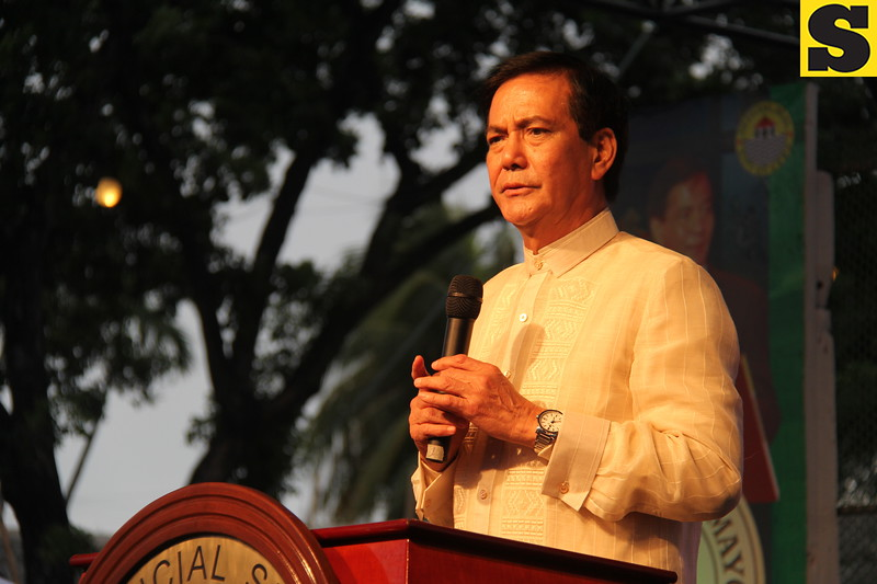 CEBU CITY. Mayor Michael Rama delivers his State of the City Address at Plaza Independencia on July 4, 2015. (Nicko Tubo/Sunnex)