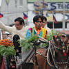 CEBU CITY. Mayor Michael Rama at Plaza Independencia for his State of the City Address, riding a kalesa together with his son. (Nicko Tubo/Sunnex)