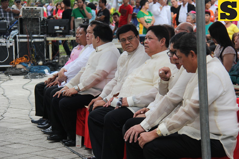 CEBU CITY. Vice Mayor Edgardo Labella and City Councilors in attendance for the State of the City Address of Mayor Michael Rama on July 4, 2015. (Nicko Tubo/Sunnex)