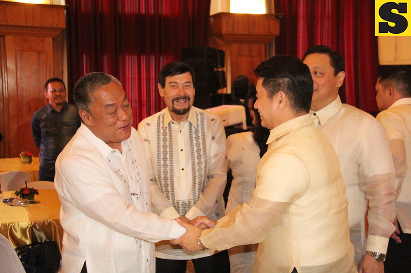 CEBU. Governor Hilario Davide III shakes hands with some of Cebu's lawmakers who attended his State of the Province Address (SOPA) at the Capitol Social Hall on August 19, 2015. (Nheru Veraflor/Sunnex)