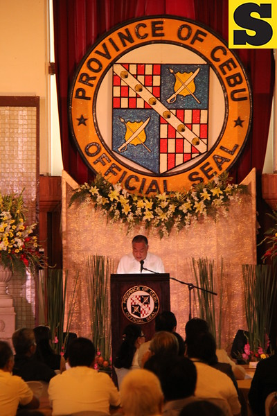 CEBU. Governor Hilario Davide III delivers his State of the Province Address (SOPA) at the Capitol Social Hall on August 19, 2015. (Nheru Veraflor/Sunnex)
