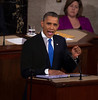 State of the Union (2013) : President Barack Obama delivered the State of the Union Address before a joint session of Congress in the House Chamber at the U.S. Capitol., Feb. 12, 2013. The president called for Congress to vote on a variety of gun control proposals that are currently up for debate. The audience included dozens of persons whose lives had been affected by gun violence, including several families from Newtown, Conn., and the parents of Hadiya Pendleton, a young woman shot and killed by a gang member recently in Chicago, and had marched in Washington, D.C., during the president's inauguration.