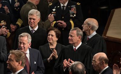 Supreme Court Justices Neil Gorsuch, Elena Kagan, John Roberts, Stephen Breyer