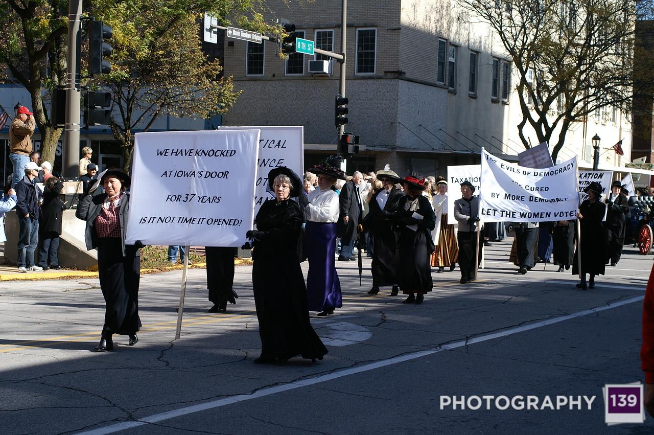 Women's Suffrage March Re-enactment