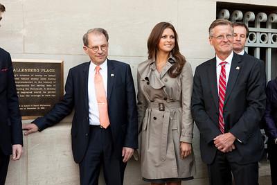 Swedish delegation including HRH Princess Madeleine of Sweden visits Washington, DC for Holocaust Remembrance Day, April 19th, 2012.
