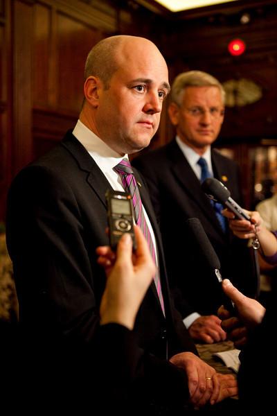 Swedish PM Reinfeldt meets Mexican President Calderon