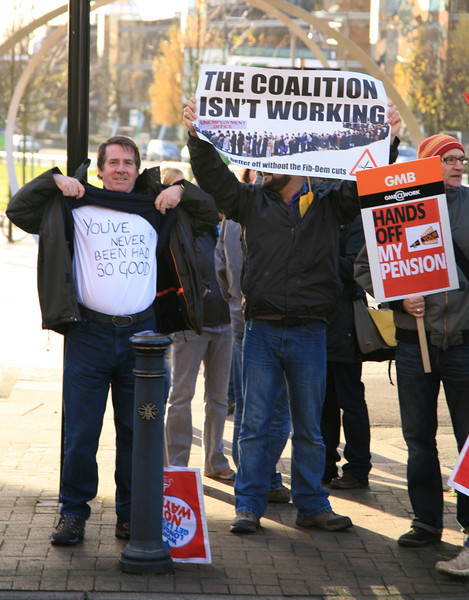 TUC Pensions day of action Manchester
