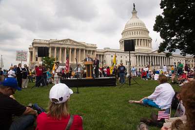 Rep. Steve King (R-IO) holds press conference on the East Lawn to decry Congressional attempts at immigration reform.
