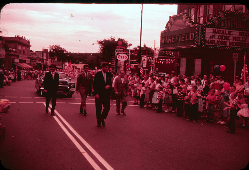 The Kennedys in the 4th of July Parade, Wakefield, MA, 1958. photo by Michael Palmerino (my grandfather)