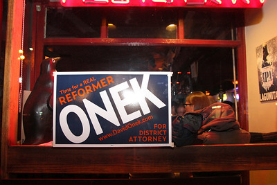 David Onek for District Attorney election night party at the Pilsner Inn, 225 Church Street, San Francisco, 9pm to 9:15pm.
