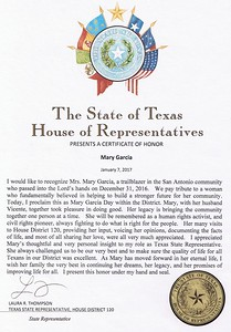 Mary Garcia Day - House District 120