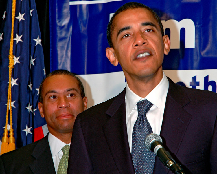 Deval Patrick and Senator Barack Obama, Parker House, Boston, MA