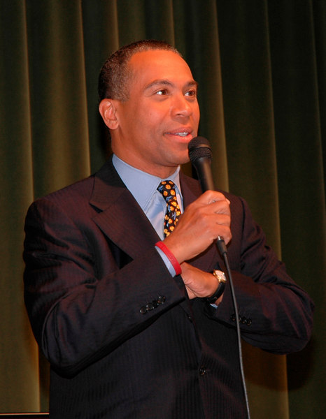 Deval Patrick at Perkins School for the Blind