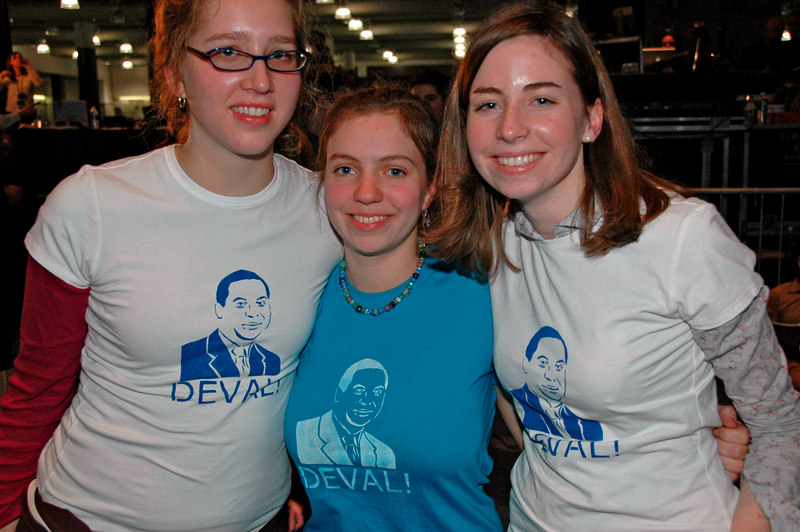 Hand-Screened Deval T-Shirts, Election Night, Hynes Auditorium