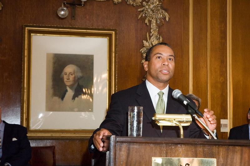 Deval Patrick Speaking at Massachusetts Congressional Delegation Event