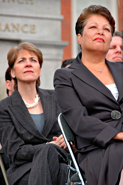 Attourney General Martha Coakely and First Lady Diane Patrick, Inauguration Day, Boston, MA 2007