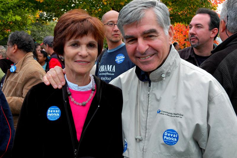 Mike and Kitty Dukakis, Deval Patrick Rally, Boston Common