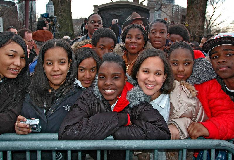 School Children, Inauguration Day, Boston, MA 2007