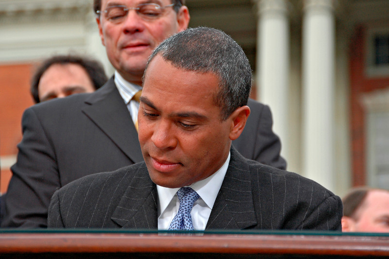 Governor Deval Patrick Signing the Oath of Office, Inauguration Day, Boston, MA 2007