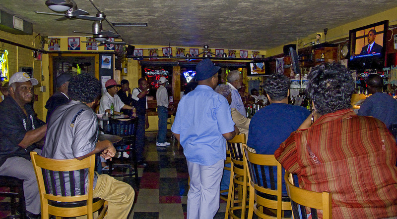 Watching Obama's Acceptance Speech, C & S Tavern, Roxbury, MA 2008