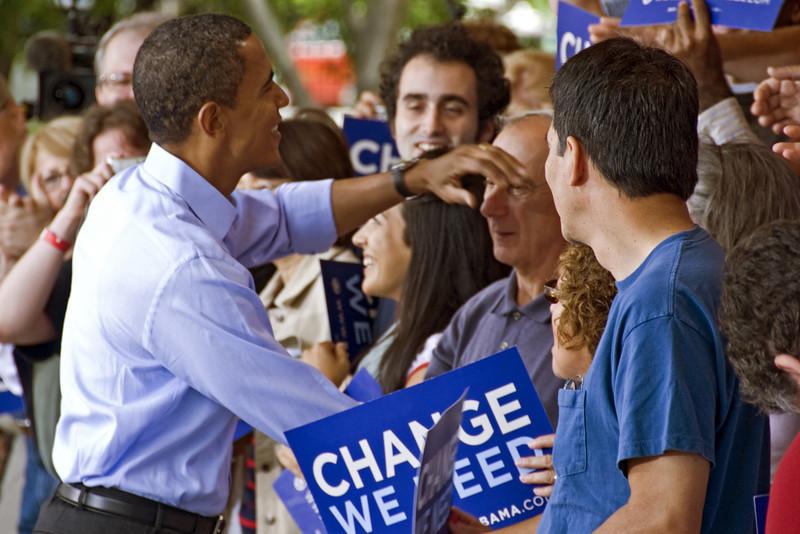 Obama Rally, Manchester, NH 09/13/08
