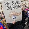 """Many, many very creative signs. And funny! As Michael Moore said in NYC the night before the inauguration: """"Trump doesn't care about negative publicity. But he cares very much about COMEDY. He of the 'amazing' thin skin!"""