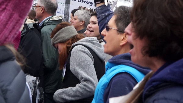 Press PLAY ►  (above) to see a short video.<br /> <br /> I took this video as we marched along.