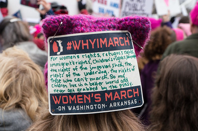 Why she's marching.
