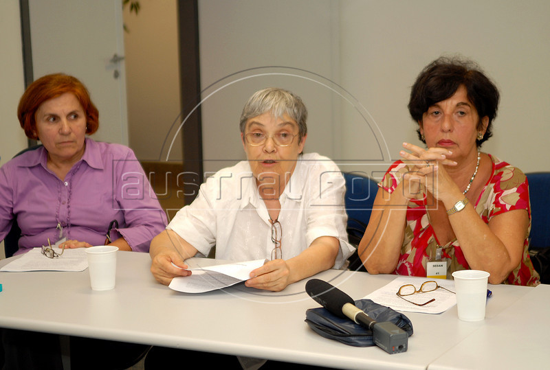 Integrants of Brazilian human rights group 'Tortura nunca mais' speaks with journalists during a press conference at ACIE (Associacao Correspondentes da Imprensa Extrangeira) Association of Foreign Press Correspondents, Rio de Janeiro, Brazil, December 16, 2009.  (Austral Foto/Renzo Gostoli)