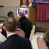 Republican write-in candidate Dean Tran addresses his followers during his campaign announcement for State Representative. SENTINEL&ENTERPRISE/ JIm Marabello