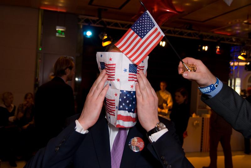 German Psycho und die amerikanische Flagge.