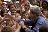 US Presidential candidate John Kerry greets well-wishers at a rally at NC State University in Raleigh, NC, Saturday, July 10, 2004.(Australfoto/Douglas Engle)