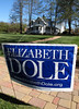 "A campaign sign for US senatorial candidate Elizabeth Dole greets residents of Henderson County, North Carolina, who come to vote at a voting station in Flat Rock, NC, USA, Oct. 29, 2008. The state looks to be a ""battleground"" state this time round, and for the first time in many many years, a Democratic presidential candidate actually has a shot at the states 15 electoral college votes. Because the race in other states is virtually decided, North Carolina might actually be the state that decides this election.(Australfoto/Douglas Engle)"