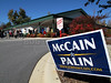 "A campaign sign for US presidential candidate John McCain greets residents of Henderson County, North Carolina, who come to vote at the county election board offices in Hendersonville, NC, USA, Oct. 29, 2008. The state looks to be a ""battleground"" state this time round, and for the first time in many many years, a Democratic presidential candidate actually has a shot at the states 15 electoral college votes. Because the race in other states is virtually decided, North Carolina might actually be the state that decides this election.(Australfoto/Douglas Engle)"