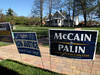 "A campaign sign for US presidential candidate John McCain greets residents of Henderson County, North Carolina, who come to vote at a voting station in Flat Rock, NC, USA, Oct. 29, 2008. The state looks to be a ""battleground"" state this time round, and for the first time in many many years, a Democratic presidential candidate actually has a shot at the states 15 electoral college votes. Because the race in other states is virtually decided, North Carolina might actually be the state that decides this election.(Australfoto/Douglas Engle)"