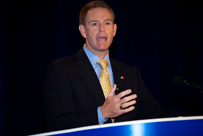 Social conservatives gather at the Values Voter Summit in Washington DC on September 17, 2010.  The event was sponsored by the Family Research Council. Here they are welcomed by Tony Perkins, President, FRC Action and Family Research Council. (Photo by Jeff Malet).