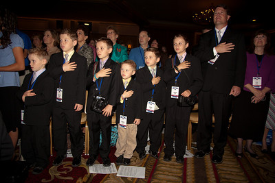 Jim Bob Duggar and his large family (19 kids and counting) are among social conservatives gathered in attendance at the Values Voter Summit in Washington DC on September 17, 2010.  The event was sponsored by the Family Research Council. (Photo by Jeff Malet).