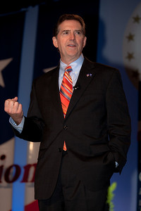 Senator Jim DeMint (R-S.C.) addresses social conservatives at the Values Voter Summit in Washington DC on September 17, 2010.  The event was sponsored by the Family Research Council.  (Photo by Jeff Malet).